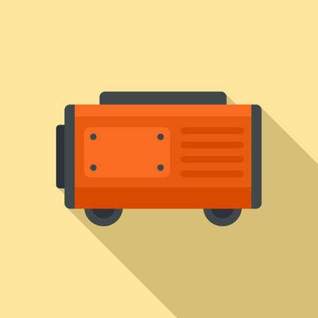 Fuel generator icon, flat style Illusztráció