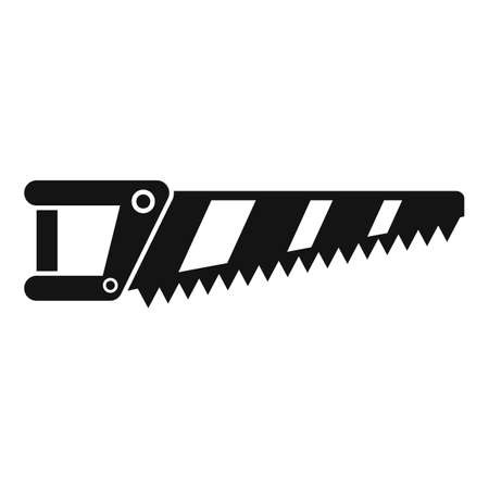 Blade hand saw icon, simple style Иллюстрация