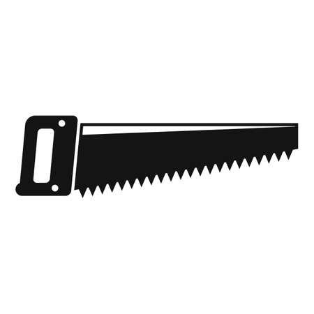 Hand saw tool icon, simple style