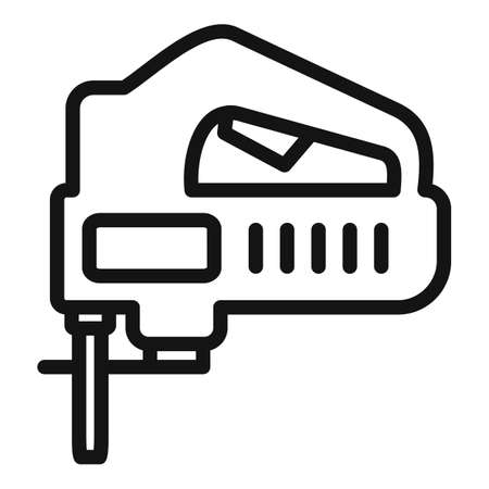 Electric jigsaw icon, outline style