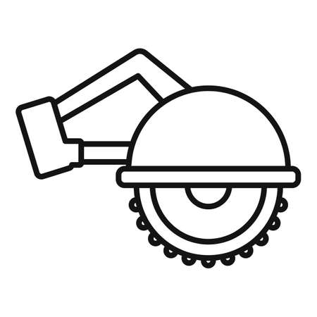 Circular saw icon, outline style Vettoriali