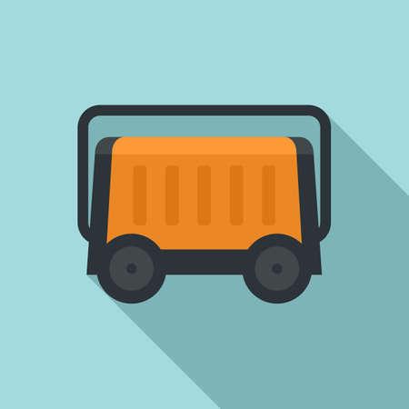 Portable generator icon, flat style