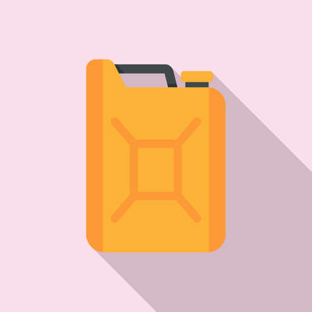 Gasoline canister icon, flat style