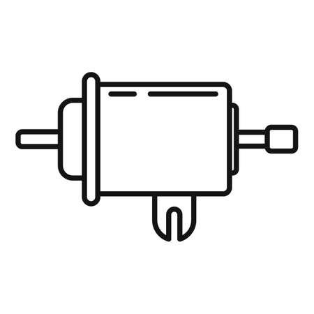 Gasoline metal filter icon, outline style Illustration