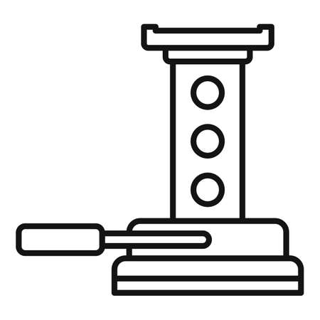 Maintenance jack-screw icon, outline style