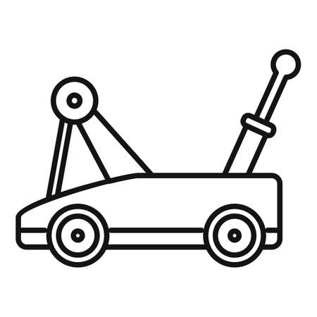 Warehouse jack-screw icon, outline style