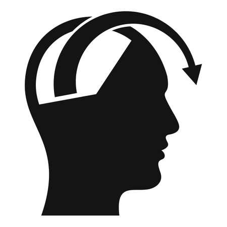 Stress fail icon, simple style