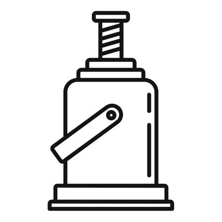 Industry jack-screw icon, outline style