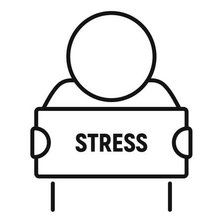 Stress situation icon, outline style