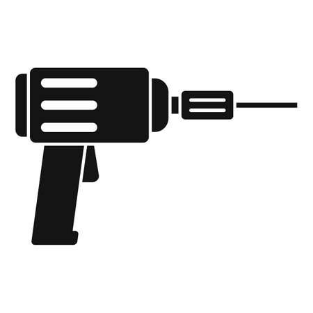 Tiler electric drill icon, simple style