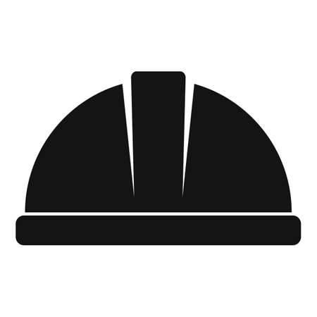 Tiler helmet icon, simple style 矢量图像