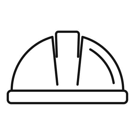Tiler helmet icon, outline style