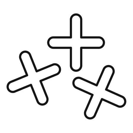 Tiler cross tool icon, outline style Vecteurs