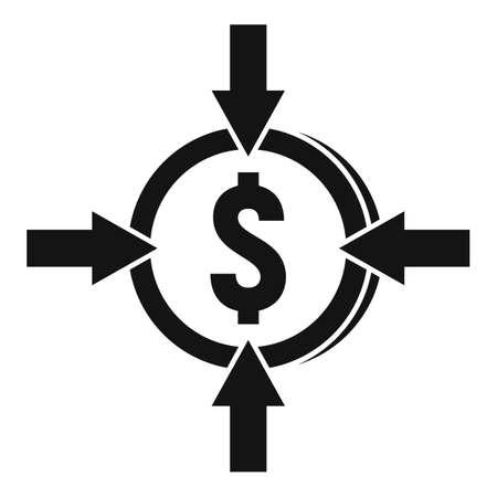 Crowdfunding money convert icon, simple style