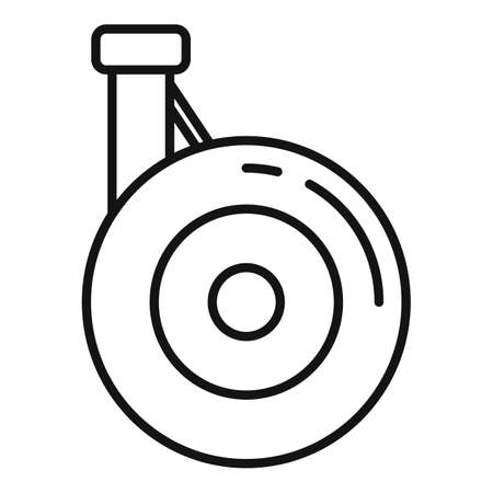Aircraft repair wheel icon, outline style Vettoriali