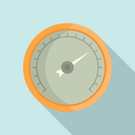 Pressure barometer icon, flat style
