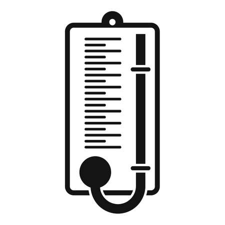 Wood barometer icon, simple style