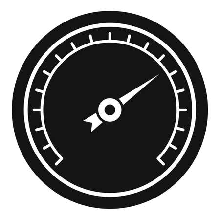 Humidity barometer icon, simple style