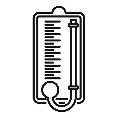 Wood barometer icon, outline style