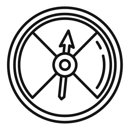 Pressure barometer icon, outline style