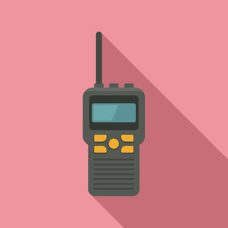 Walkie talkie transmitter icon, flat style