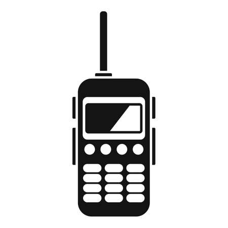 Walkie talkie antenna icon, simple style