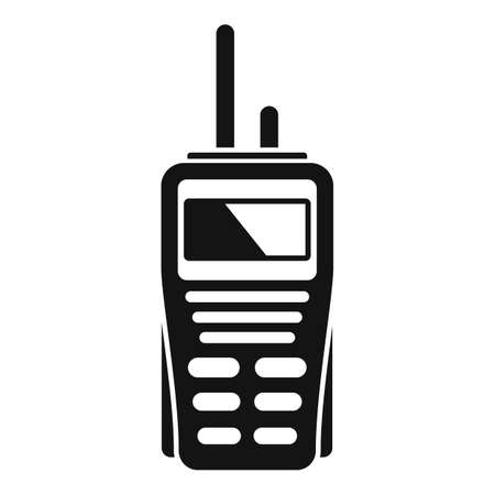 Walkie talkie security icon, simple style Vettoriali