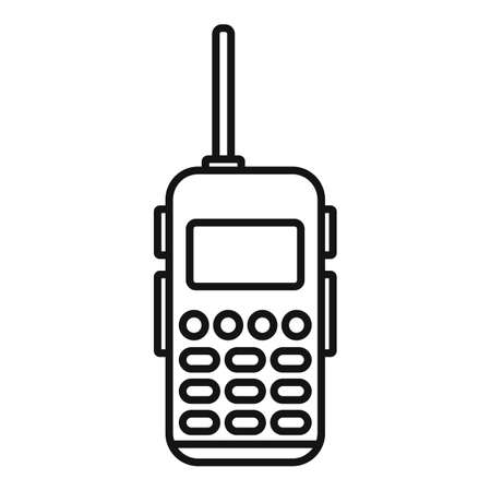 Walkie talkie communication icon, outline style