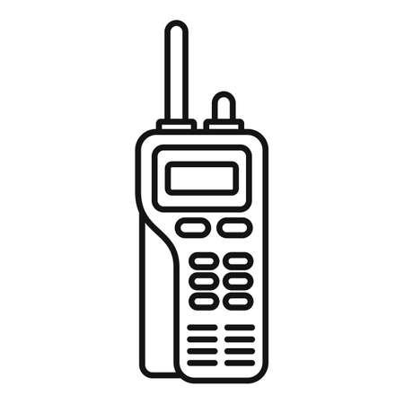 Walkie talkie channel icon, outline style Ilustración de vector