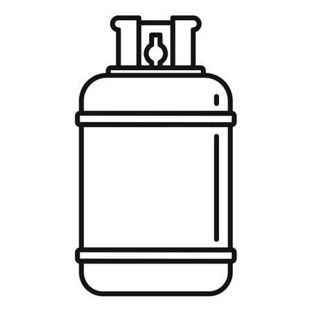 Gas cylinder bottle icon, outline style
