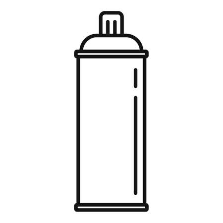 Gas spray bottle icon, outline style