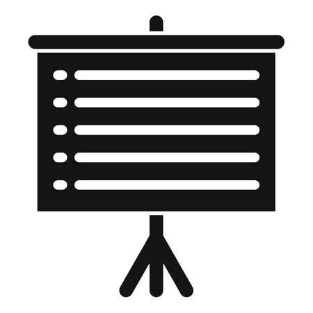 Banner exploration icon, simple style Illusztráció