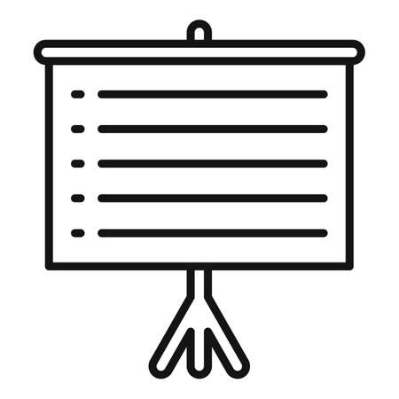 Banner exploration icon, outline style