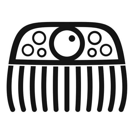 Gemstone barrette icon, simple style
