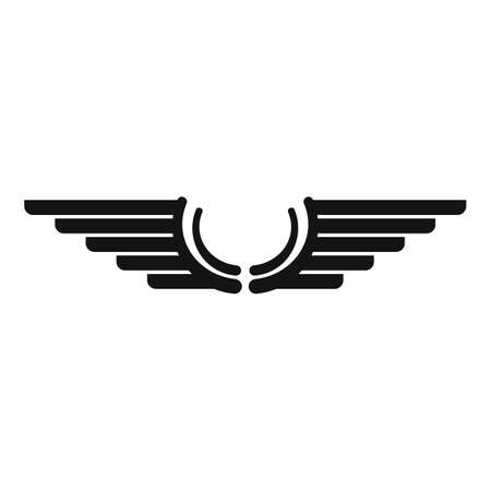 Wings icon, simple style
