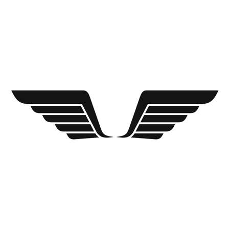 Wings nature icon, simple style