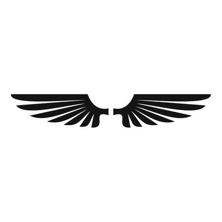 Wings animal icon, simple style Vettoriali