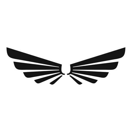 Cute wings icon, simple style