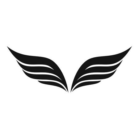 Fairy wings icon, simple style