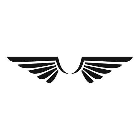 Phoenix wings icon, simple style Vettoriali