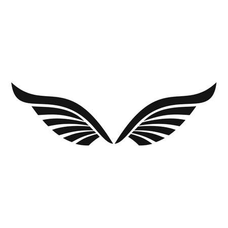 Bird wings icon, simple style