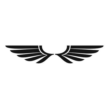 Falcon wings icon, simple style Vettoriali