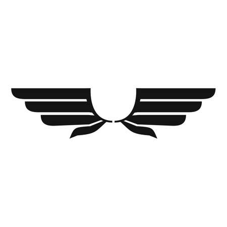 Eagle wings icon, simple style