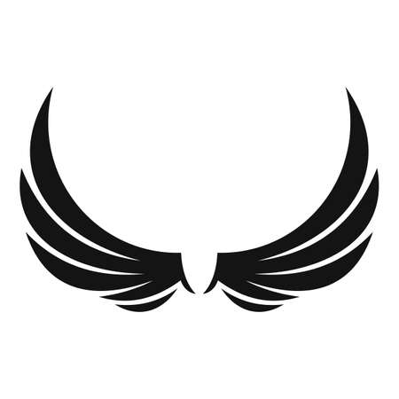 Symbol wings icon, simple style