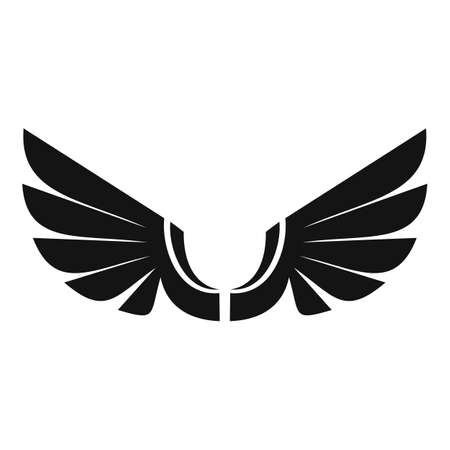 Tattoo wings icon, simple style