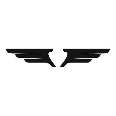 Design wings icon, simple style