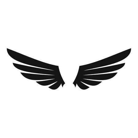 Retro wings icon, simple style