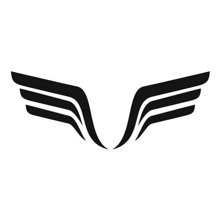 Sign wings icon, simple style
