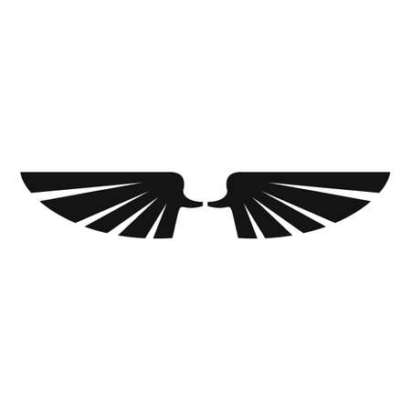 Decoration wings icon, simple style Vettoriali