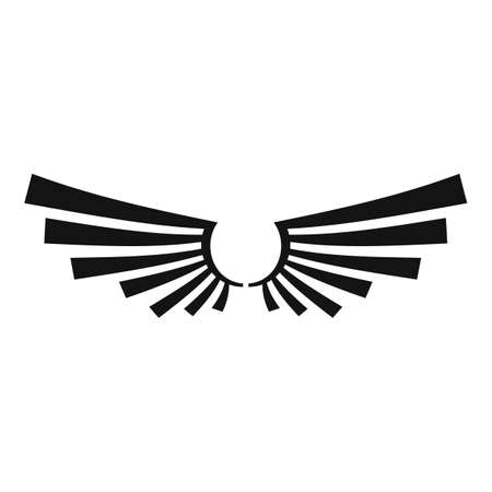 Decorative wings icon, simple style